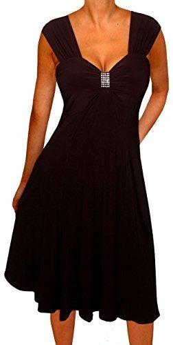 funfash vestido de coctel para mujer talla grande cintura im