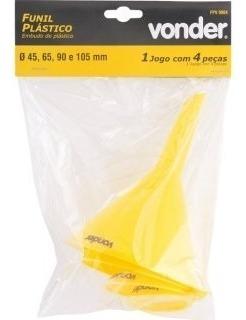 funil de plástico com 4 peças - fpv - vonder