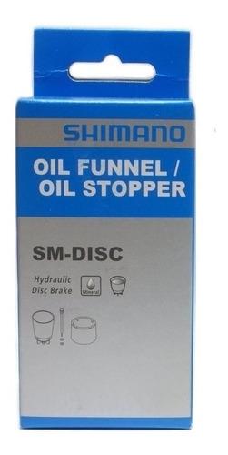 funil sangria freio shimano+ fluido mineral 50ml shimano