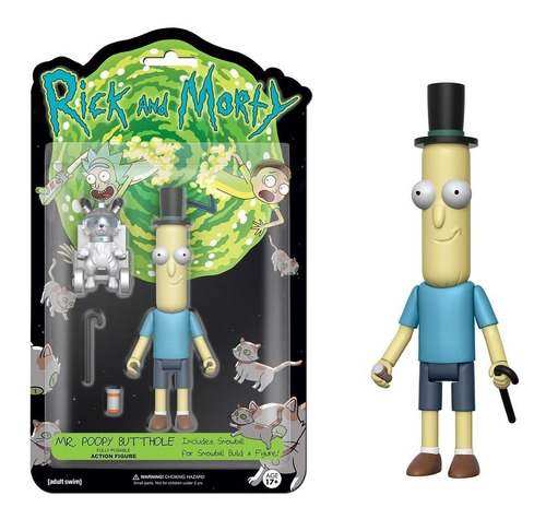 funko 5  articulated rick and morty  mr.poopy