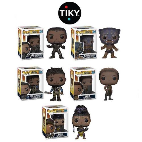funko 5 pop set black panther erik killmonger shuri nakia