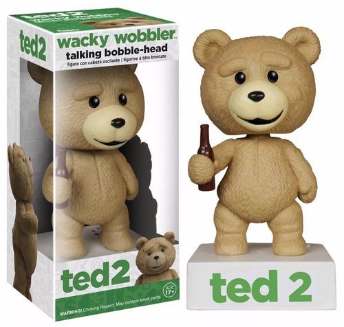 funko bobble head talking ted 2 - wacky wobbler - ted q fala