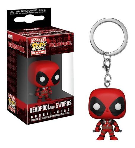funko keychain: deadpool w/sword - deadpool (marvel)