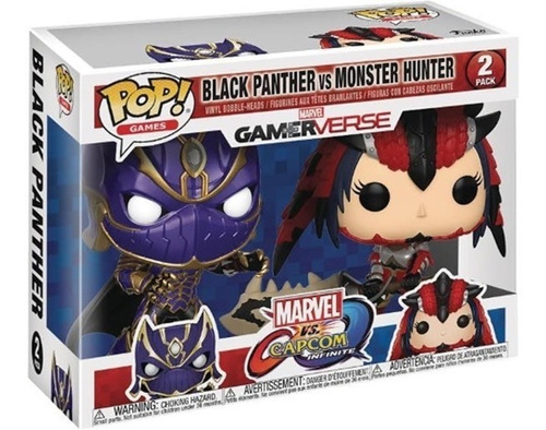 funko pop 2 pack marvel vs capcom black panther vs monster h