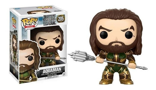funko pop 205 aquaman dc justice league playking