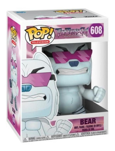 funko pop 28682 vinyl teen titans go! bear #608 original
