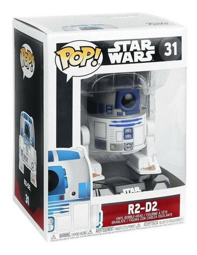 funko pop 3269 vinyl star wars r2-d2 bobble #31 original