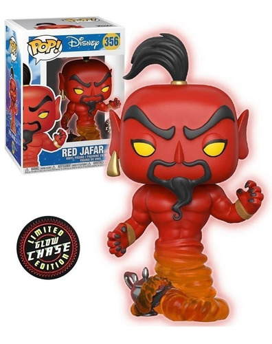 funko pop aladdin red jafar #356 glow chase