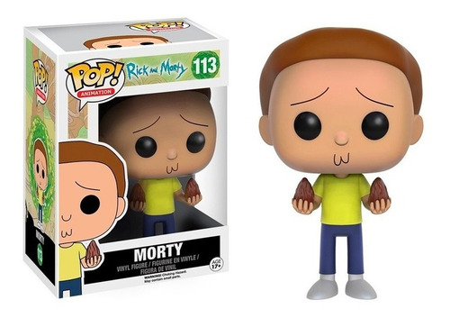 funko pop animation ricky & morty-morty 113 (9016)