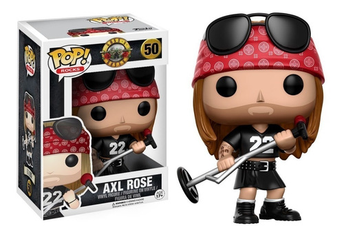 funko pop axl rose guns and roses # 50   * local balvanera