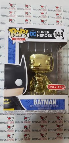 funko pop! batman #144 gold chrome target exclusive env grts