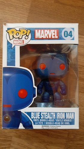 funko pop blue stealth iron man (vaulted)