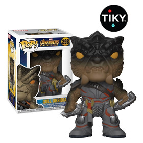 Funko Pop Cull Obsidian De Thanos Black Order Sin Sticker