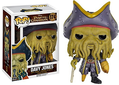 funko pop disney: figura de acción de pirates-davy jones