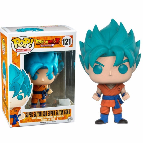 funko pop dragon ball super saiyan god goku exclusivo #121