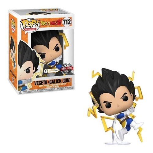 funko pop dragon ball z vegeta galick gun 712