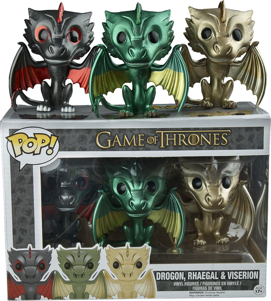 Funko Pop Dragones Drogon Rhaegal Viserion Game Of Thrones