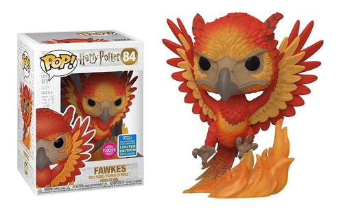 funko pop fawkes #84 de harry potter flocked edic limitada