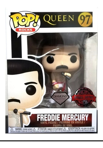 funko pop freddie mercury special ed. diamond queen