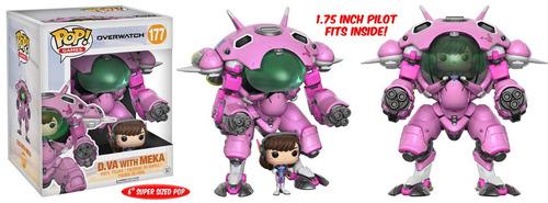 funko pop games #177 overwatch d.va with meka nortoys