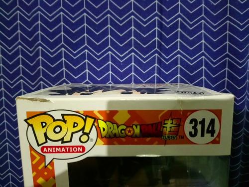 funko pop goku black #314 (detalle en la caja)