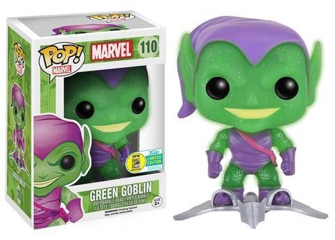 funko pop green goblin with gilder glow exclusive sdcc 2016