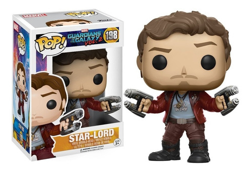funko pop! guardiões da galáxia vol. 2 - star lord #198