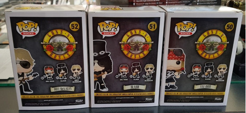 funko pop! guns n roses axl rose, duff mckagan e slash