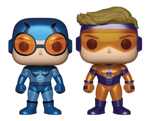 funko pop! héroes: dc heroes booster gold & blue beetl