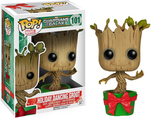 funko pop holiday dancing groot 101 guardians of the galaxy