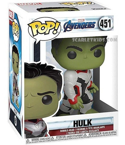 funko pop! hulk avengers 451 original marvel scarlet kids