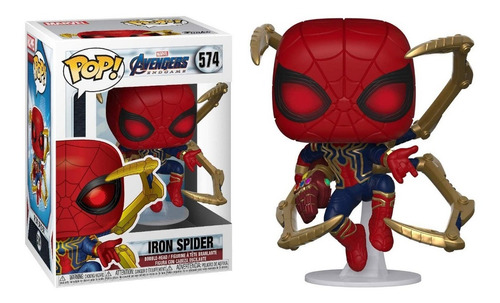 funko pop iron spider #574 con guantelete marvel regalosleon