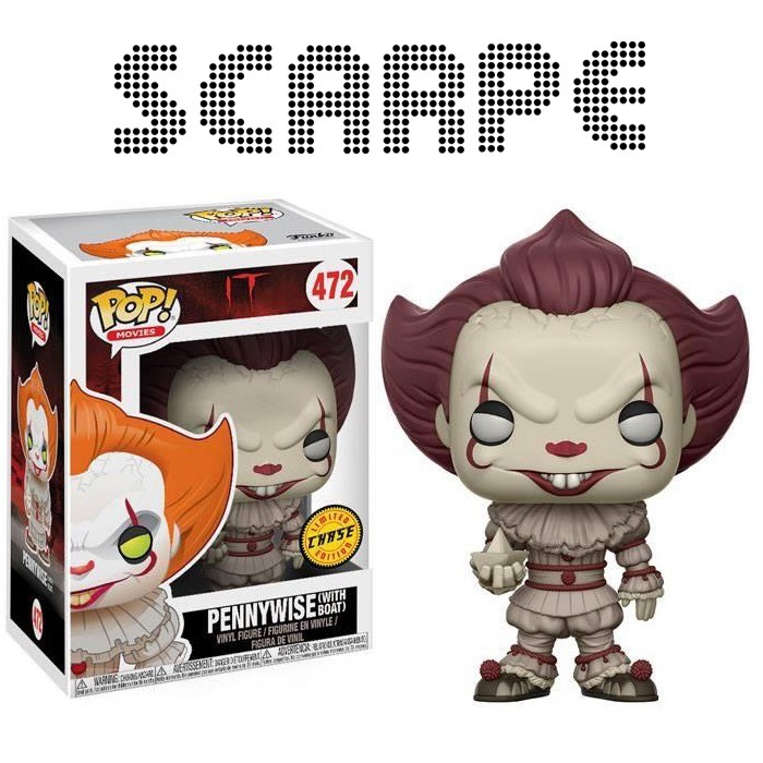 Funko Pop It Pennywise With Boat Stephen King Chase Eso