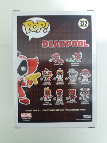 funko pop! [jg] clown deadpool #322 mint