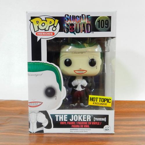 funko pop joker suicide squad hot topic edición limitada