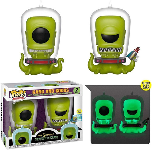 funko pop! kang e kodos the simpsons 2 pack limited edition