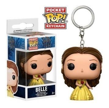 funko pop! keychain: beauty & the beast - belle - funko pop