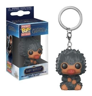 funko pop! keychain fantastic beasts 2 - baby niffler (gris)