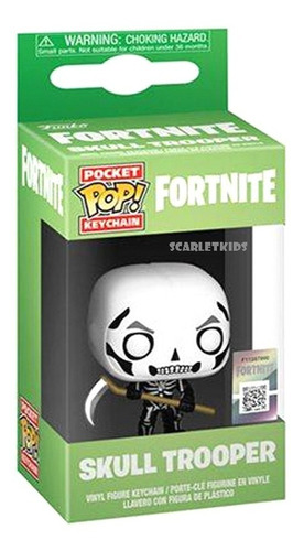 funko pop llavero fortnite skull trooper original scarlet