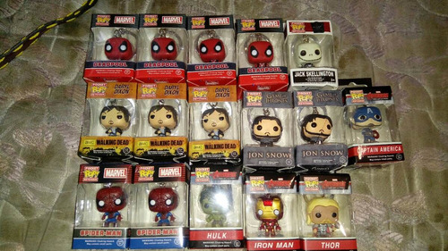funko pop llaveros the walking dead game of thrones deadpool
