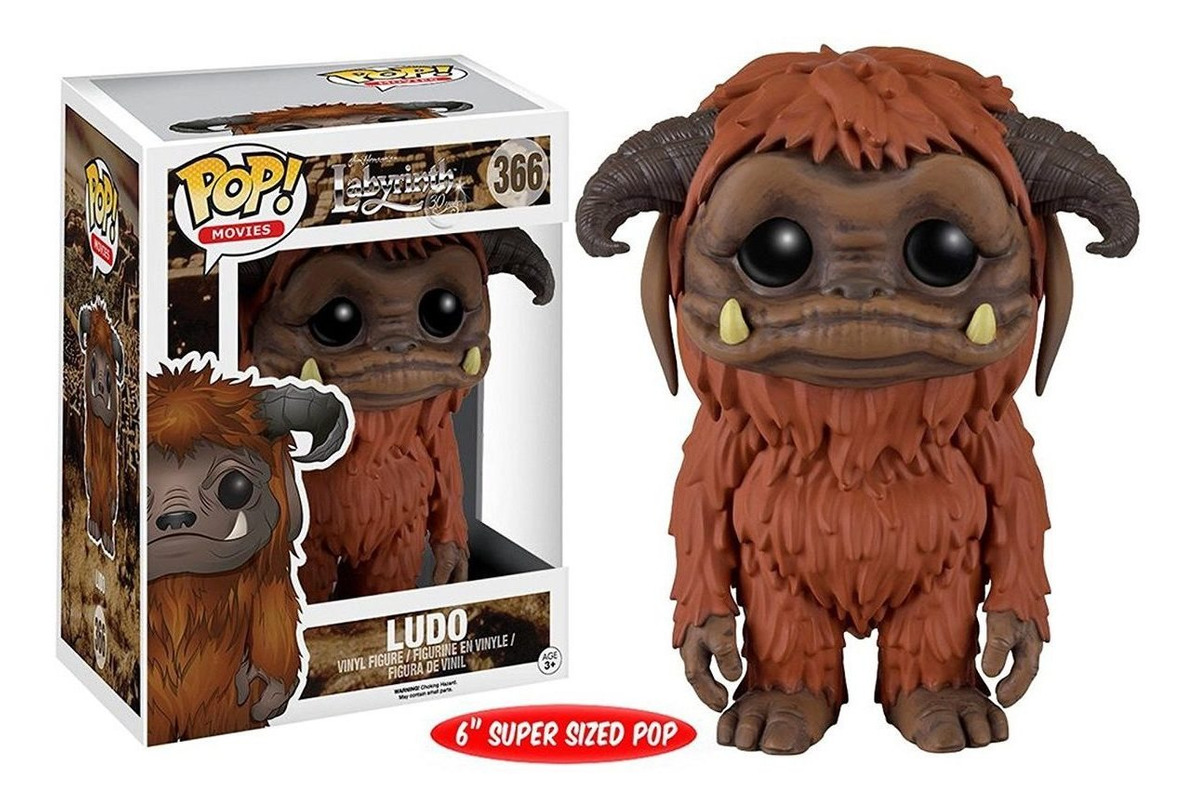 Funko Pop Ludo Tamaño 6  Labyrinth Laberinto David Bowie
