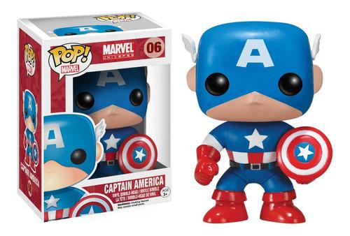 funko pop! marvel #006 captain america nortoys