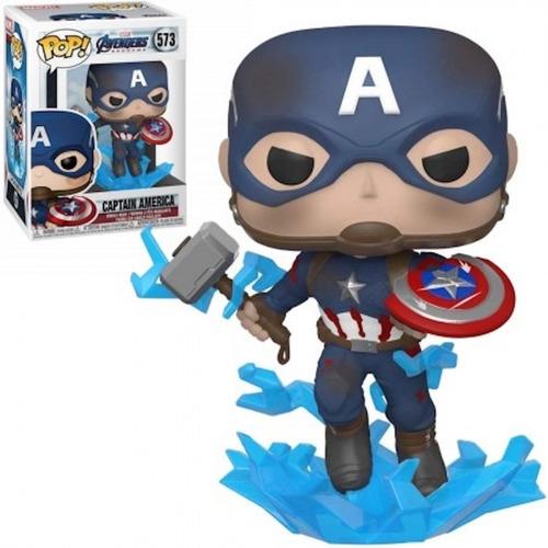 funko pop marvel avengers endgame captain america w/mjolnir