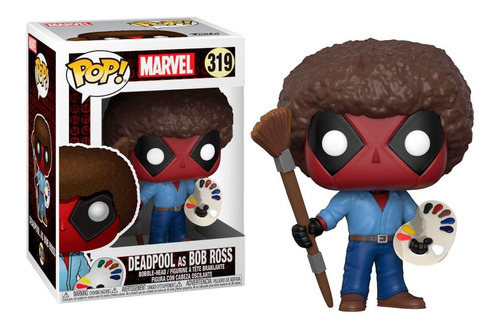 funko pop marvel: deadpool as bob ross