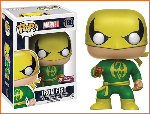 funko pop! marvel defenders iron fist punho de ferro px