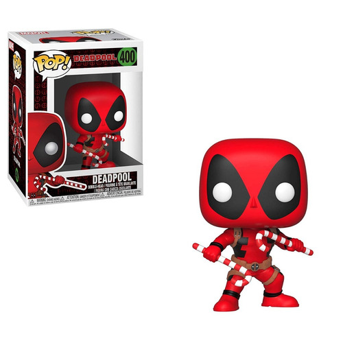 funko pop marvel holiday deadpool with candy canes