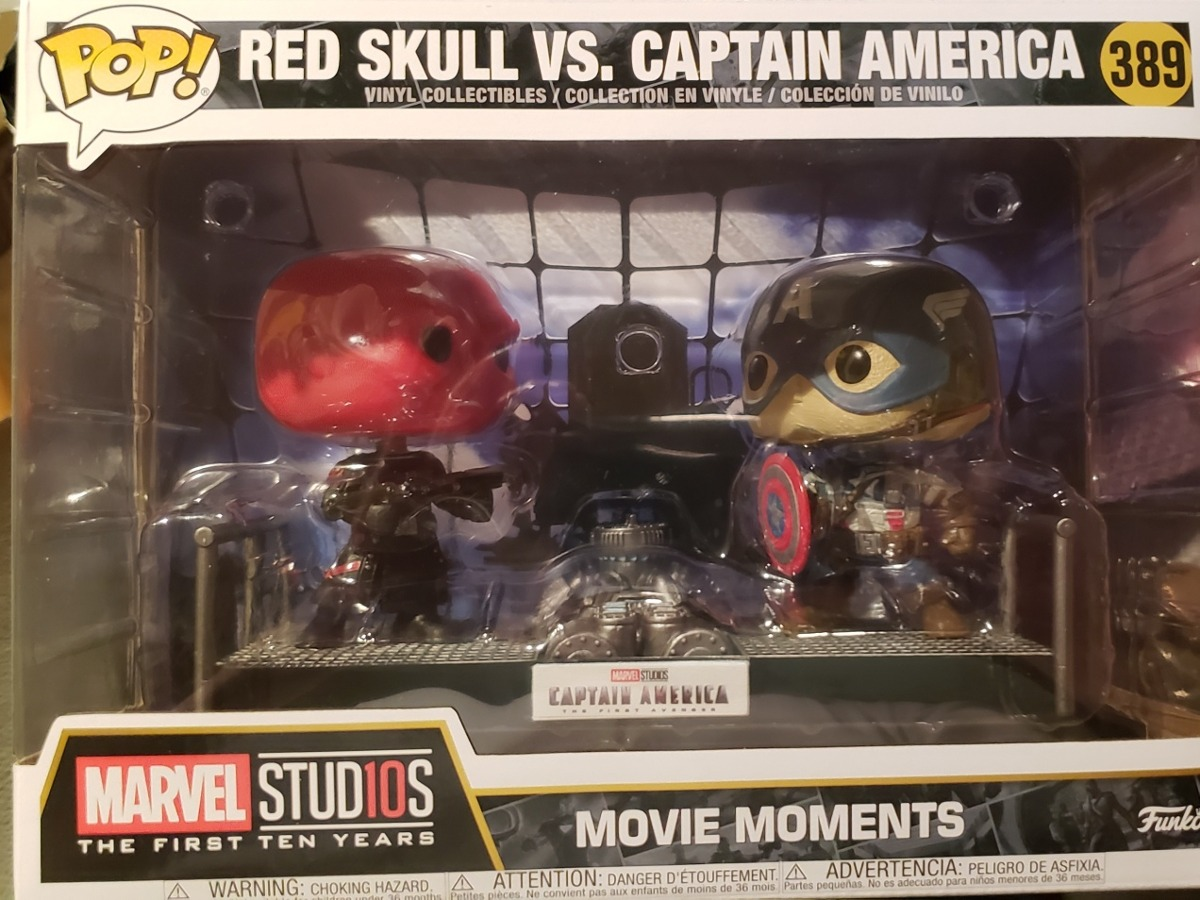 Movie Vs Marvel Funko America Pop Captain Moments Skull Red 0vOwmN8n