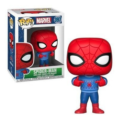 funko pop! marvel spiderman - spiderman (holiday) - funko po