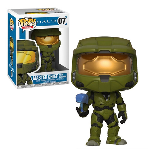funko pop master chief con cortana figura original halo