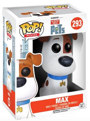 funko pop max de pets movie vinyl dog collectible